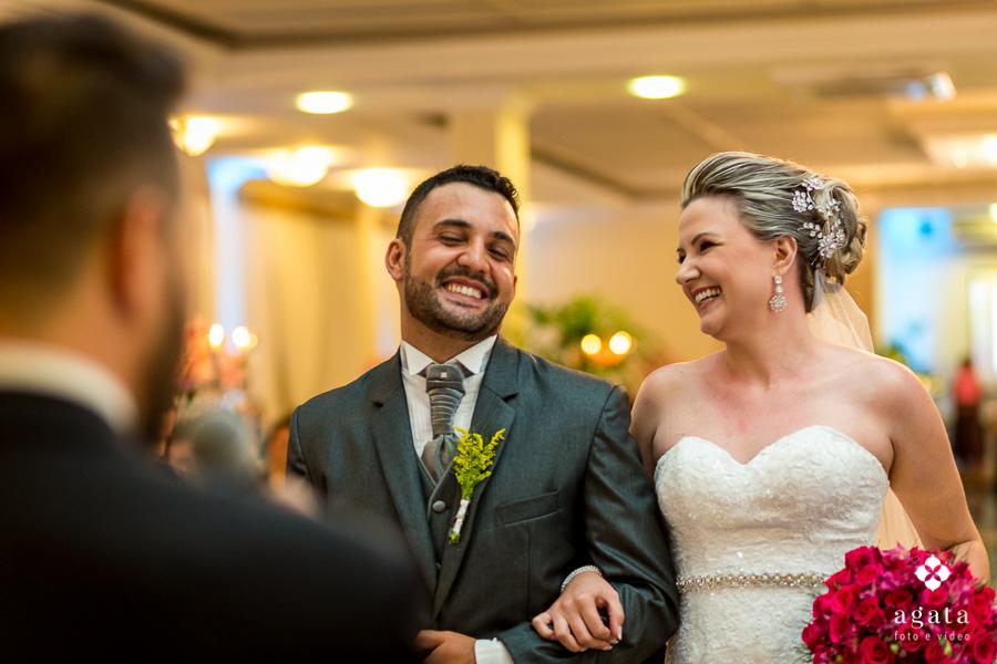 Alegria na Cerimônia de casamento