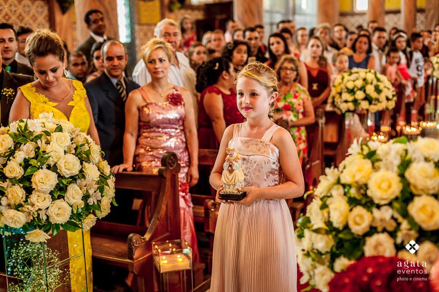 Entrada de daminha no casamento