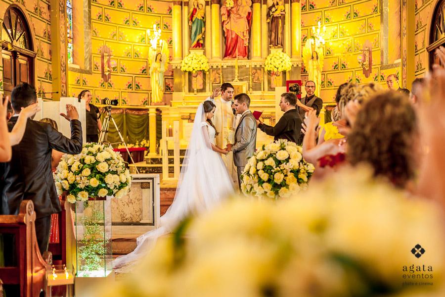 Cerimônia na Igreja Matriz de São José dos Pinhais