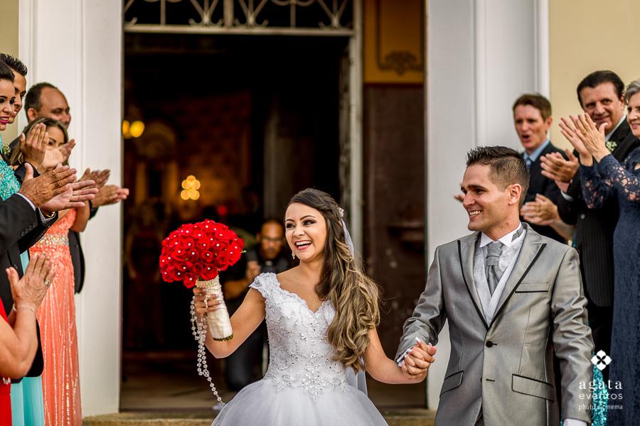 Saída dos noivos da Igreja Matriz de São José dos Pinhais