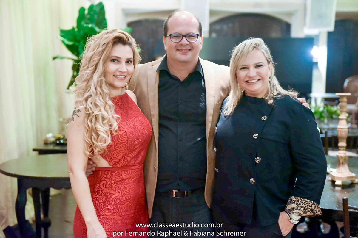Fabiana Schreiner, Fernando Raphael e Ana Paula Goes no Wedding Day Experience