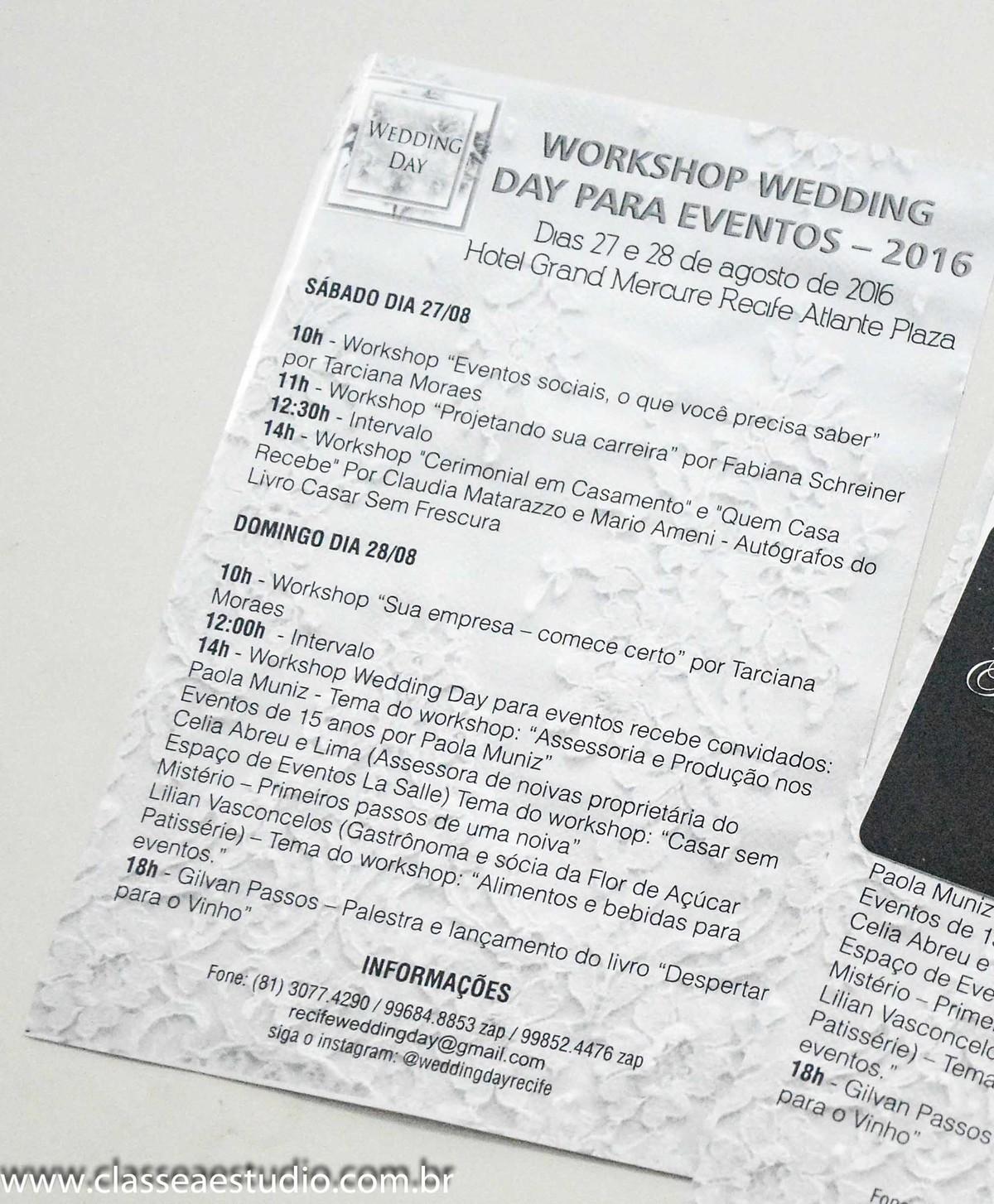 workshop wedding day