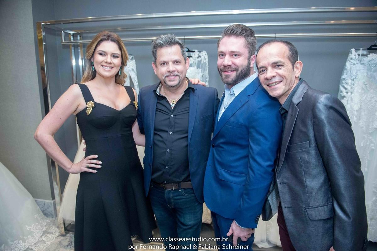 Mary Mansur, Henrique Melo, Lucas Anderi e Danilo Toscano