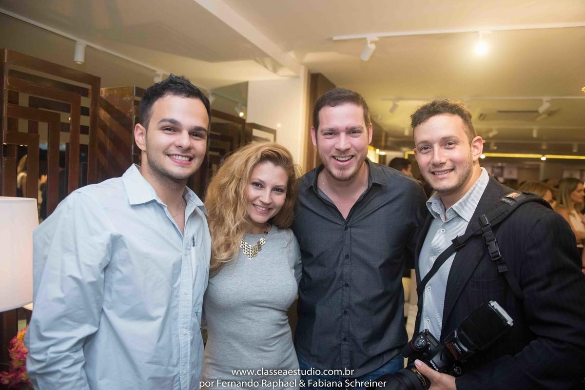 Matheus Sisnando, Fabiana Schreiner e Bosco Lacerda