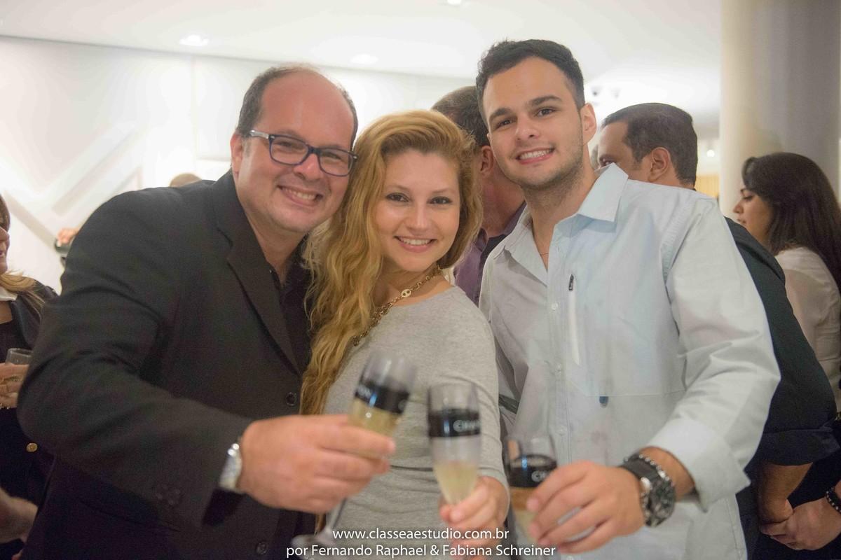 Fernando Raphael, Fabiana Schreiner e Matheus Sisnando