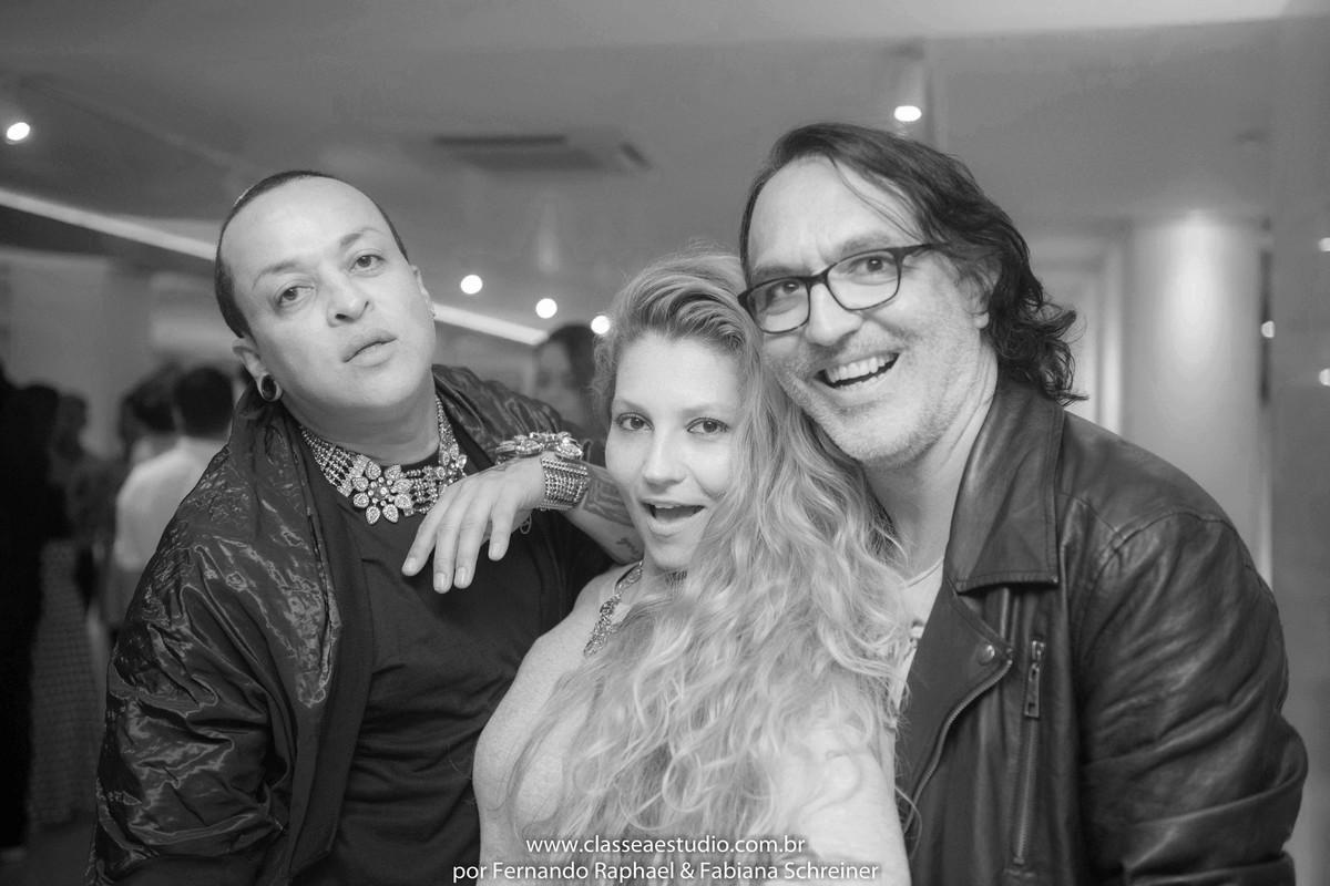 Walerio Araujo, Fabiana Schreiner e Nestor Madenes