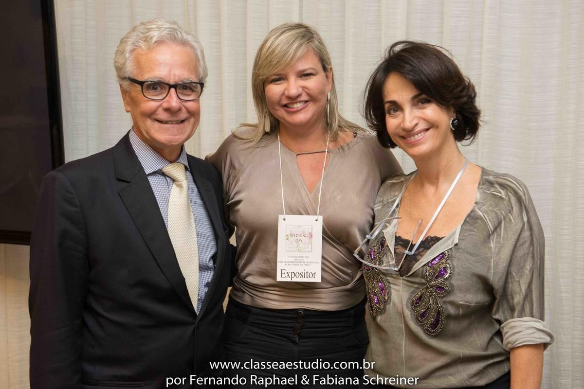 Lounge do buffet Barrozo com Ana Paula Goes com Claudia Matarazzo e Mario Ameni no salão de noivas e festas wedding day