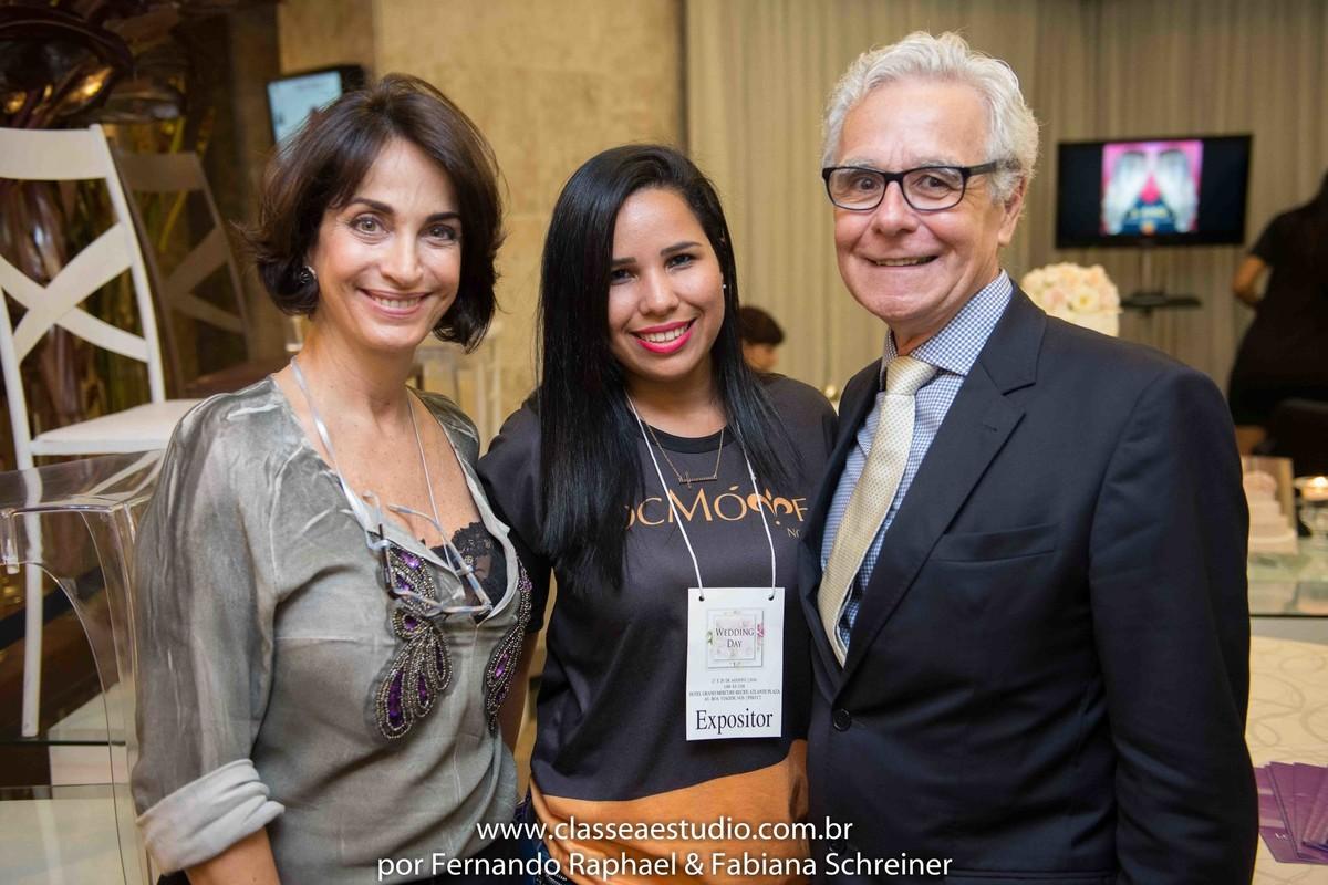 Lounge da Loc Moveis com Claudia Matarazzo e Mario Ameni no salão de noivas e festas wedding day