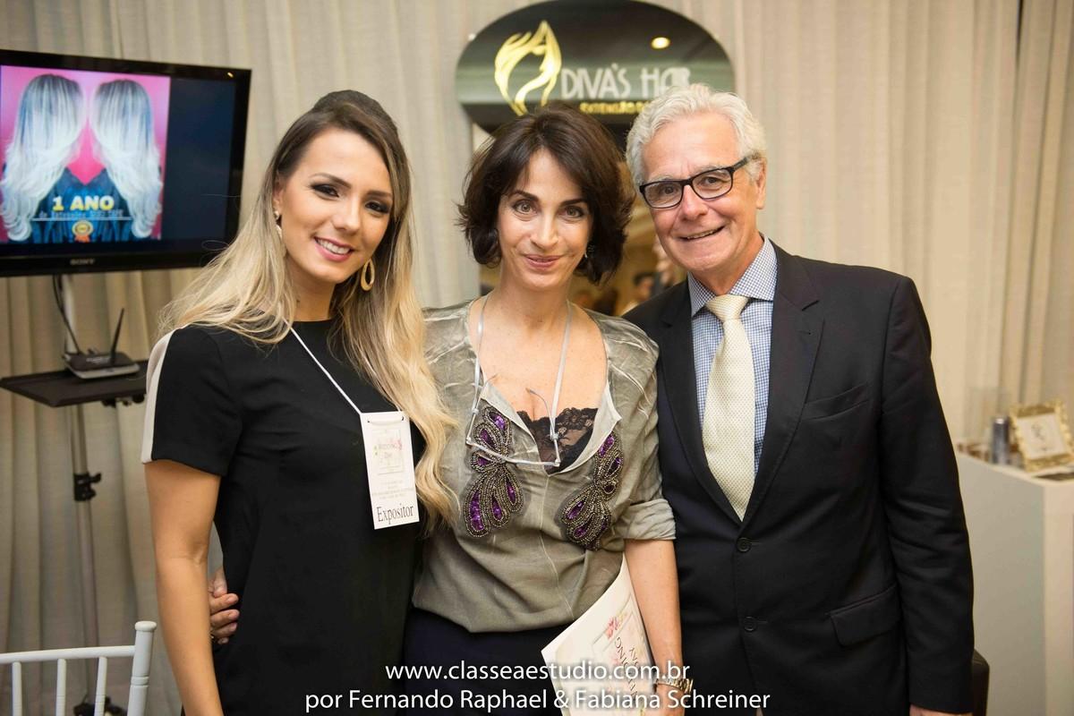 Lounge da Divas Hair por Camila Farias com Claudia Matarazzo e Mario Ameni no salão de noivas e festas wedding day