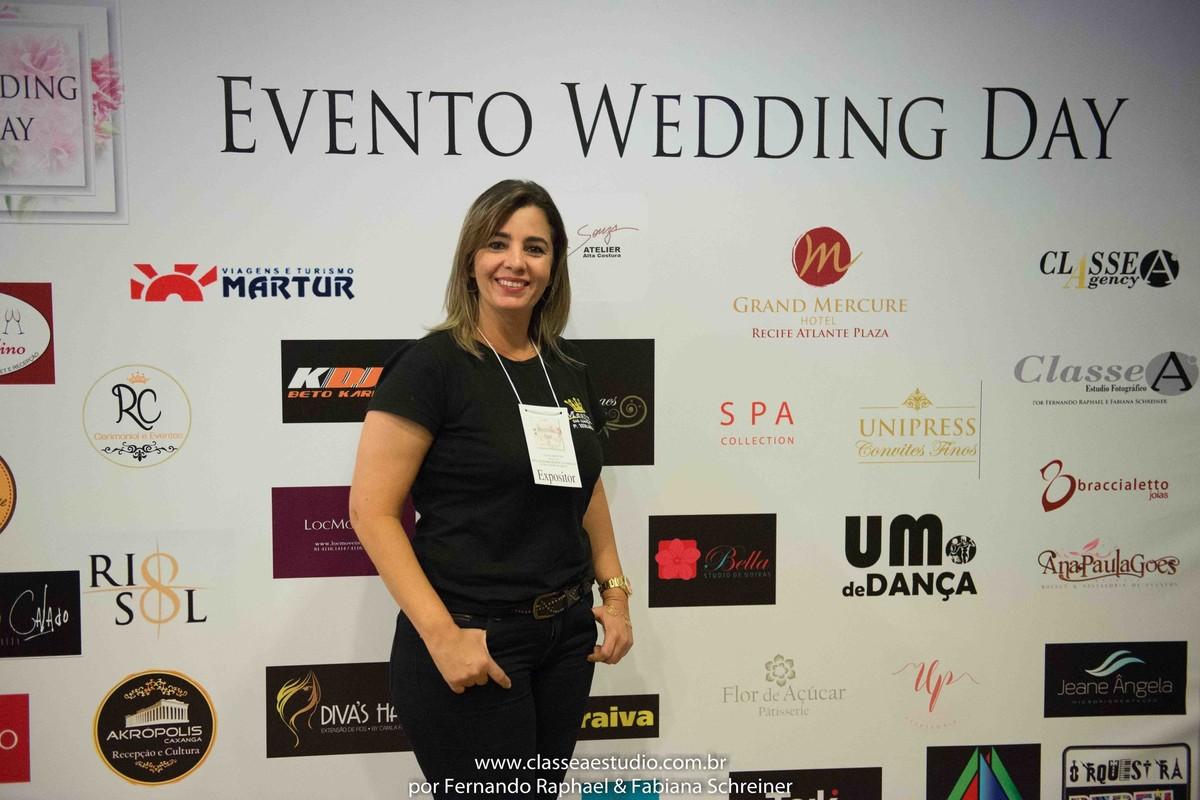 Ana Paula do Mestre das Alianças durante o salão de noivas e festas wedding day
