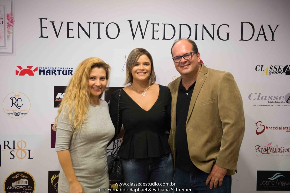 Fabiana Schreiner, Cuca Amorim e Fernando Raphael no salão de noivas e festas wedding day