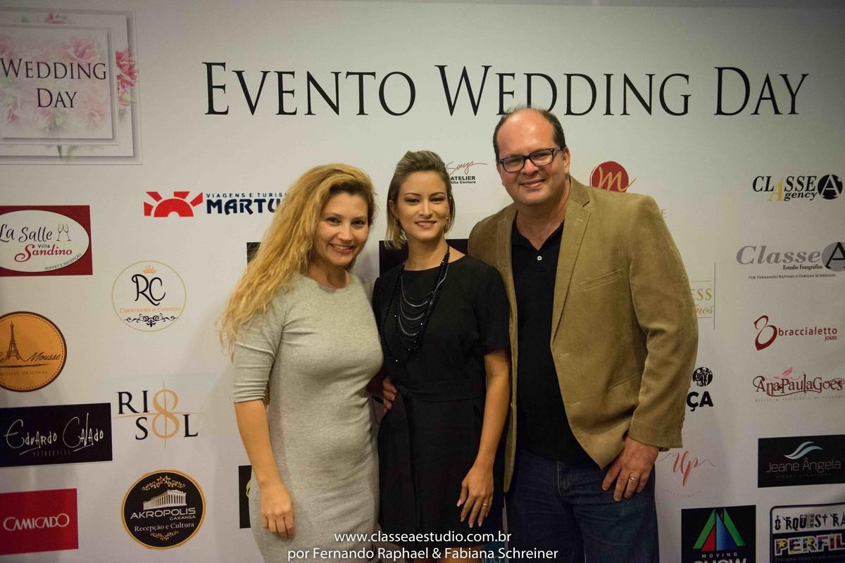 Fabiana Schreiner, Diva's Hair e Fernando Raphael no salão de noivas e festas wedding day