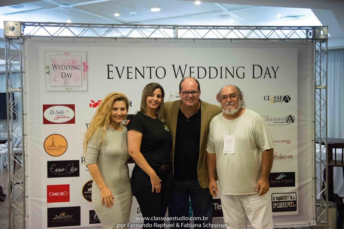 Fabiana Schreiner, Ana da mestre das Alianças, Fernando Raphael e o estilista Jan Souza no salão de noivas e festas wedding day