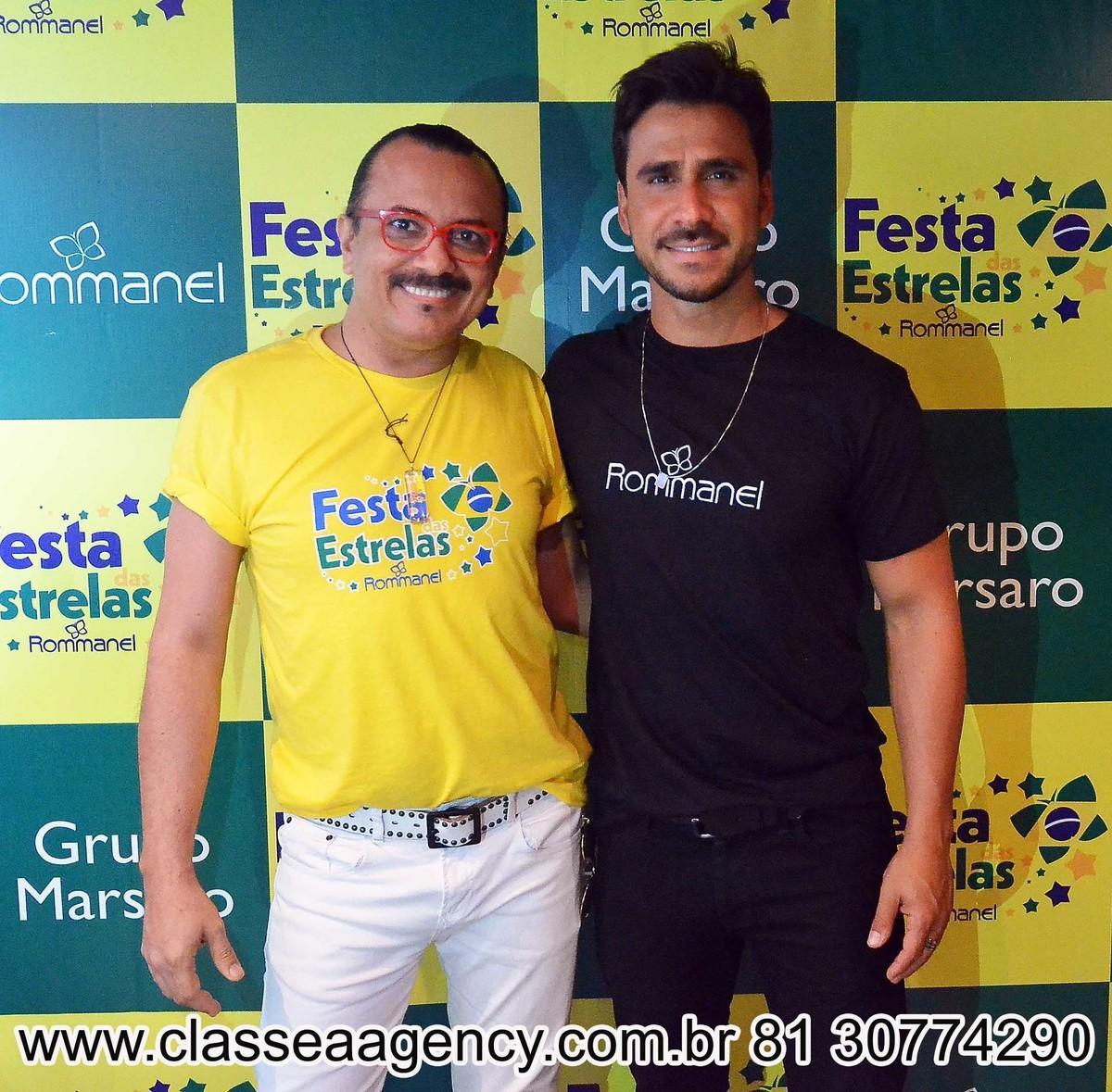 Augusto Werner e Julio Rocha na festas das estrelas da Rommanel