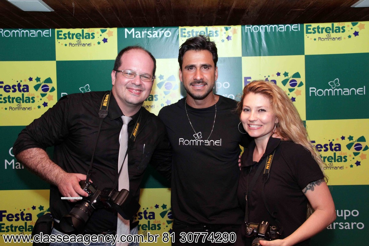 Fernando Raphael, Julio Rocha e Fabiana schreiner na festas das estrelas da Rommanel