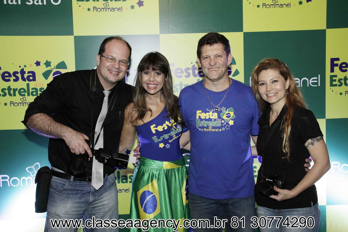 Fernando Raphael, Jo, Alcindo Marsaro e Fabiana schreiner na festas das estrelas da Rommanel