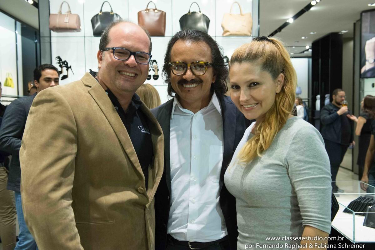 Fernando Raphael, Augusto Werner e Fabiana Schreiner