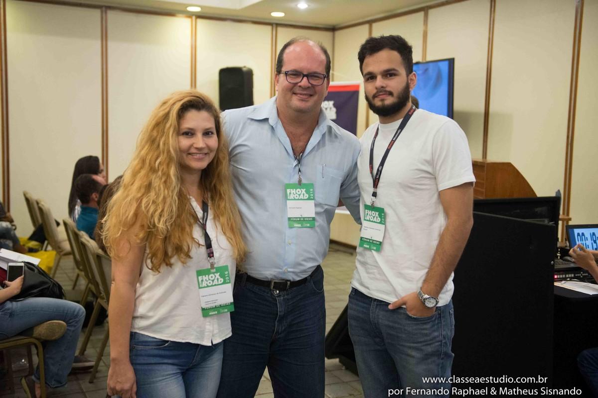 Gestor de marketing Fernando Raphael, Gestora de marketing Fabiana Schreiner e o supervisor de marketing Matheus Sisnando.