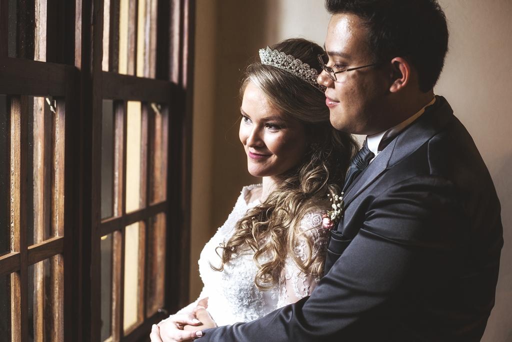 Foto de Tatiana e André