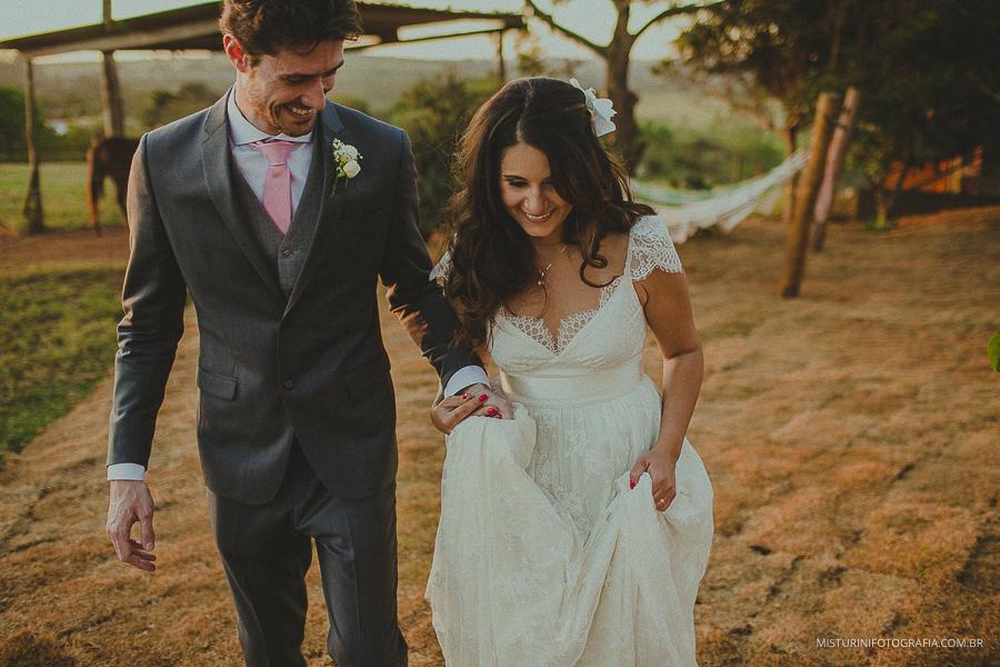 casamento no campo por do sol