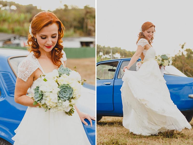 A noiva Helena ficou incrível com o vestido da Marca Pó de Arroz, Conseguimos um tempo antes da cerimônia pra fotografar a noiva do lado do seu Chavete Azul. Adoramos fotografar a noiva e fazer alguns retratos. Fotografia de casamento,