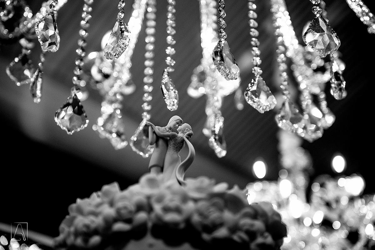 detalhe do bolo de casamento