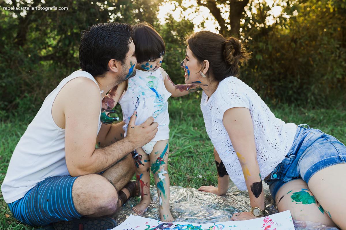 Foto de Polly, Flávio e Miguel