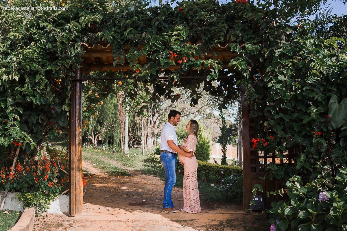 Foto de Adriana e Henio esperando a Suzana