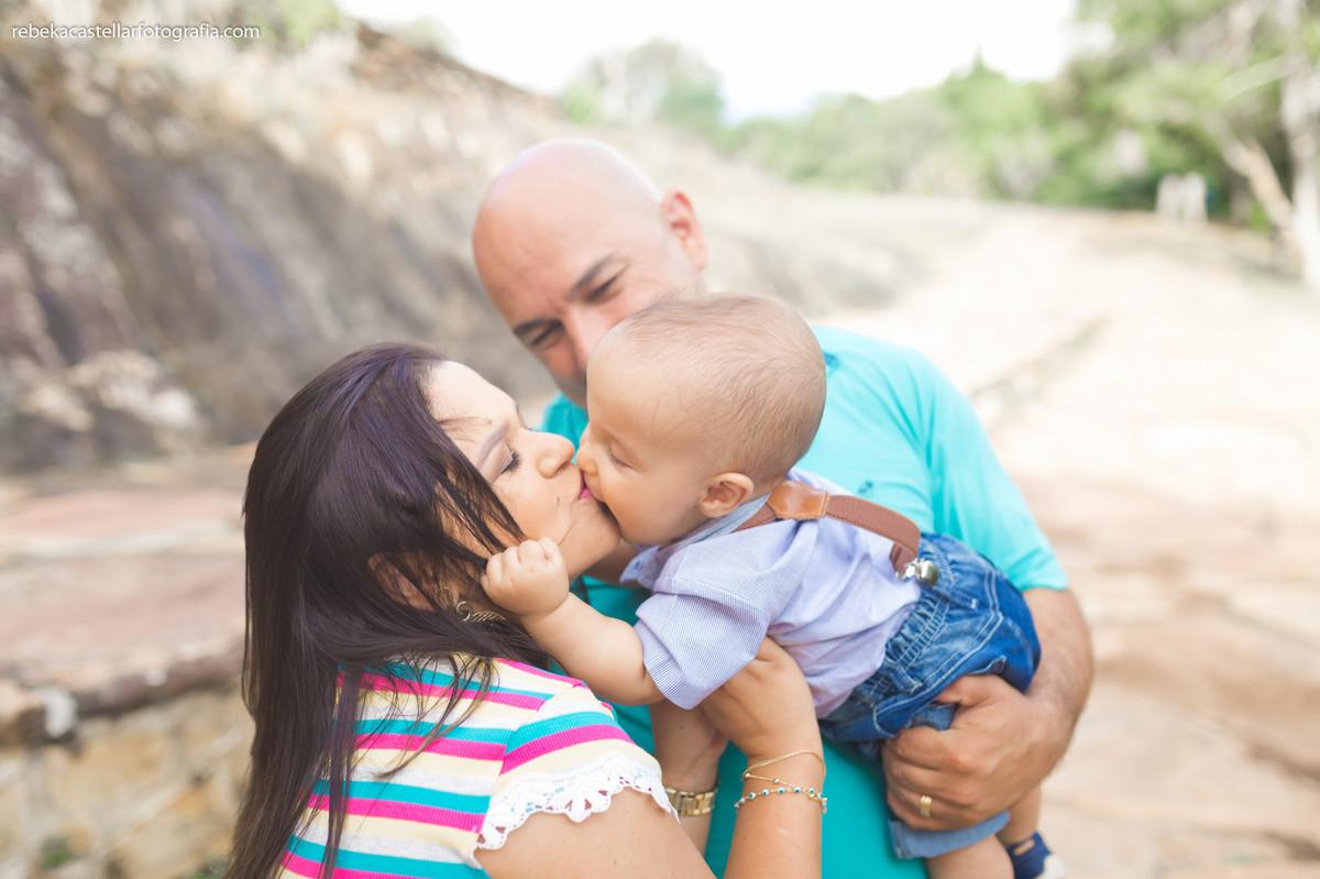 Foto de Tatiane, Diano e Arthur