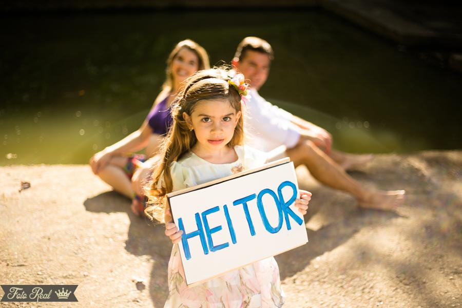 Foto de Dalina esperando Heitor