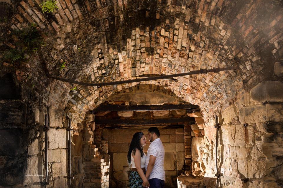 Ensaio fotográfico de noivos no interior de São Paulo