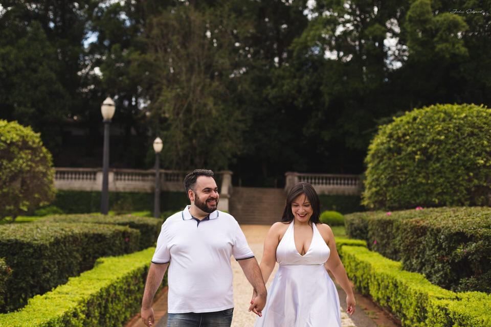Ensaio Romântico antes do casamento da Néia e Humberto em Ipiranga-SP