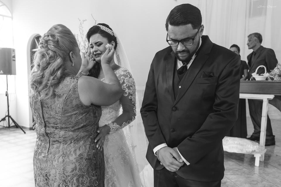 Emoção no casamento Aline e Alan em SP