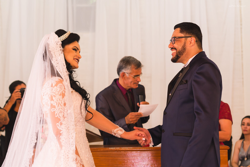 Trocas das  alianças de casamento