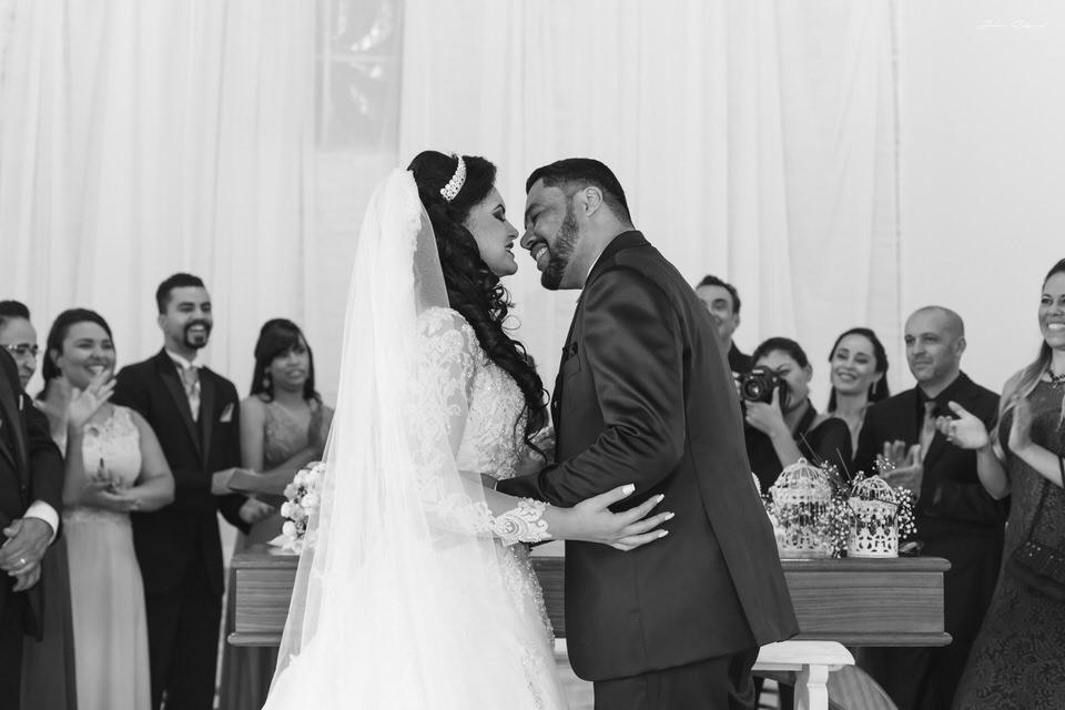 Beijo de casamento em SP