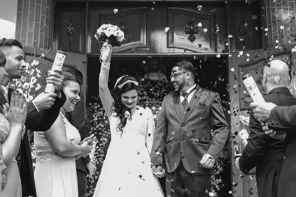 Alegria no casamento da Aline e Alan em SP