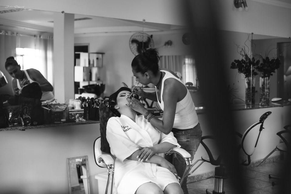 making of da noiva Aline antes do casamento