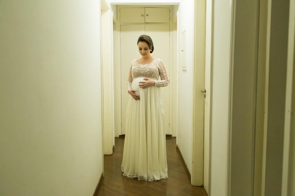 fotos da noiva gestante  Ana em São Paulo