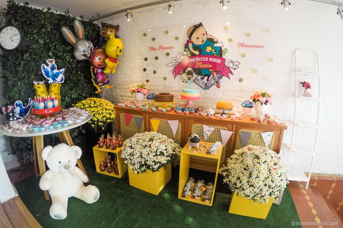 mesa de decoraçao de aniversário infantil em guaxupé