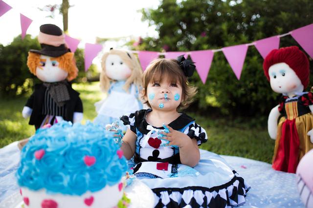 Infantil de Cake Smash da Alice