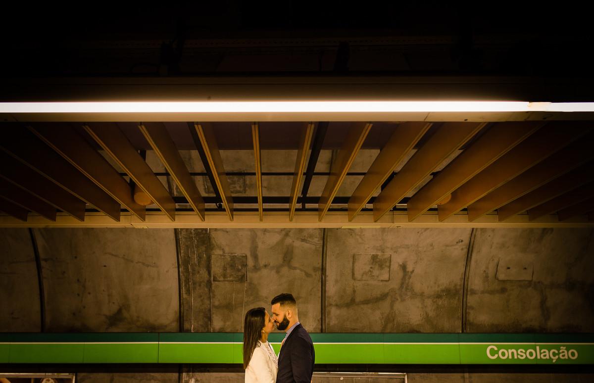 pré wedding michelly e sávio metrô são paulo