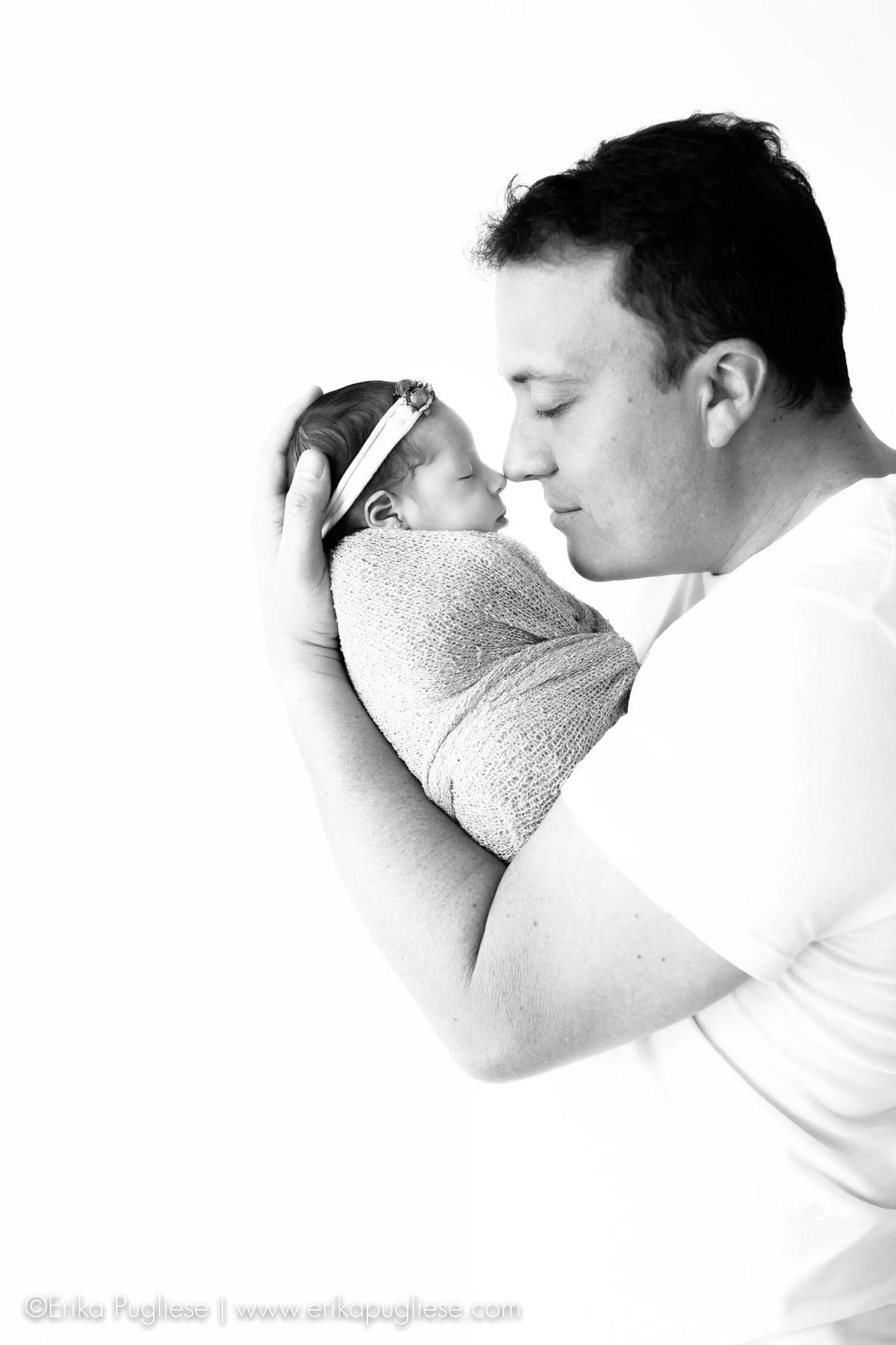 Papai também participa do ensaio newborn