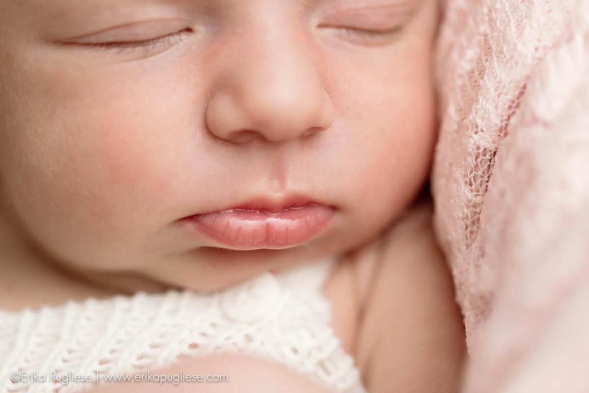 detalhe da boca do recém nascido