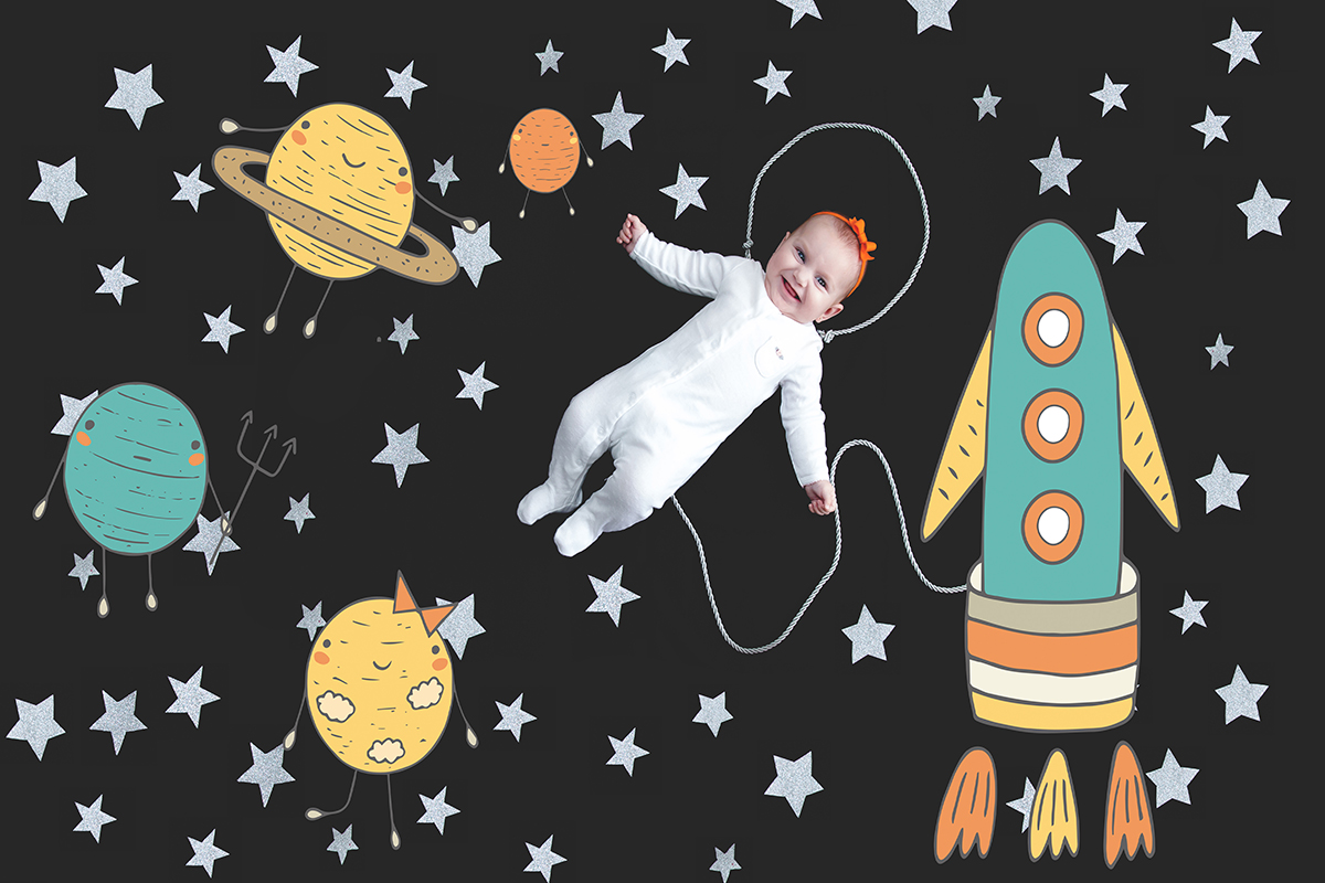 Fotografando a Lorena no espaço