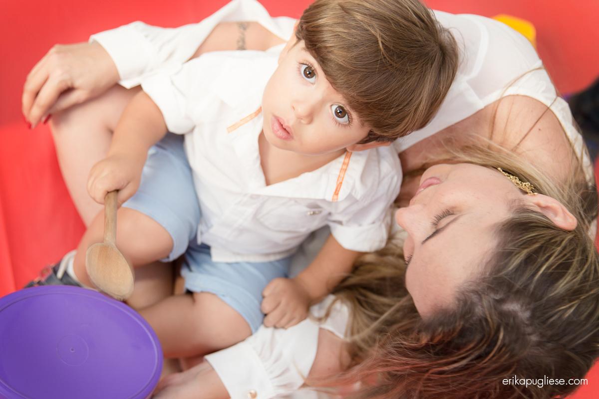 Fotografia de Evento Aniversário Infantil. Bernardo e a mamãe