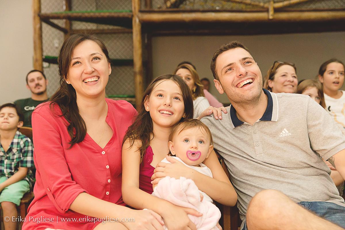 Aniversário Infantil Laura - 1 ano família reunida na retro da Laurinha