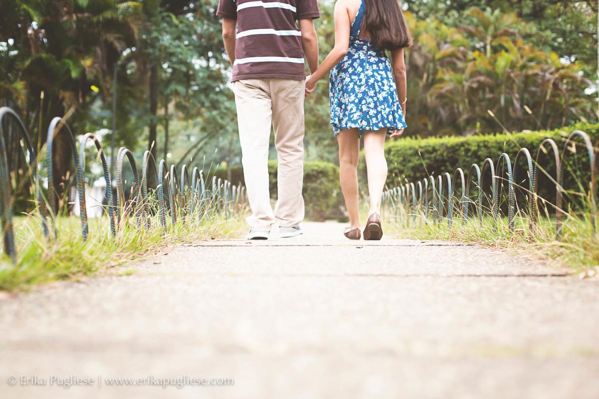 A nova caminhada dos noivos Ensaio pré casamento