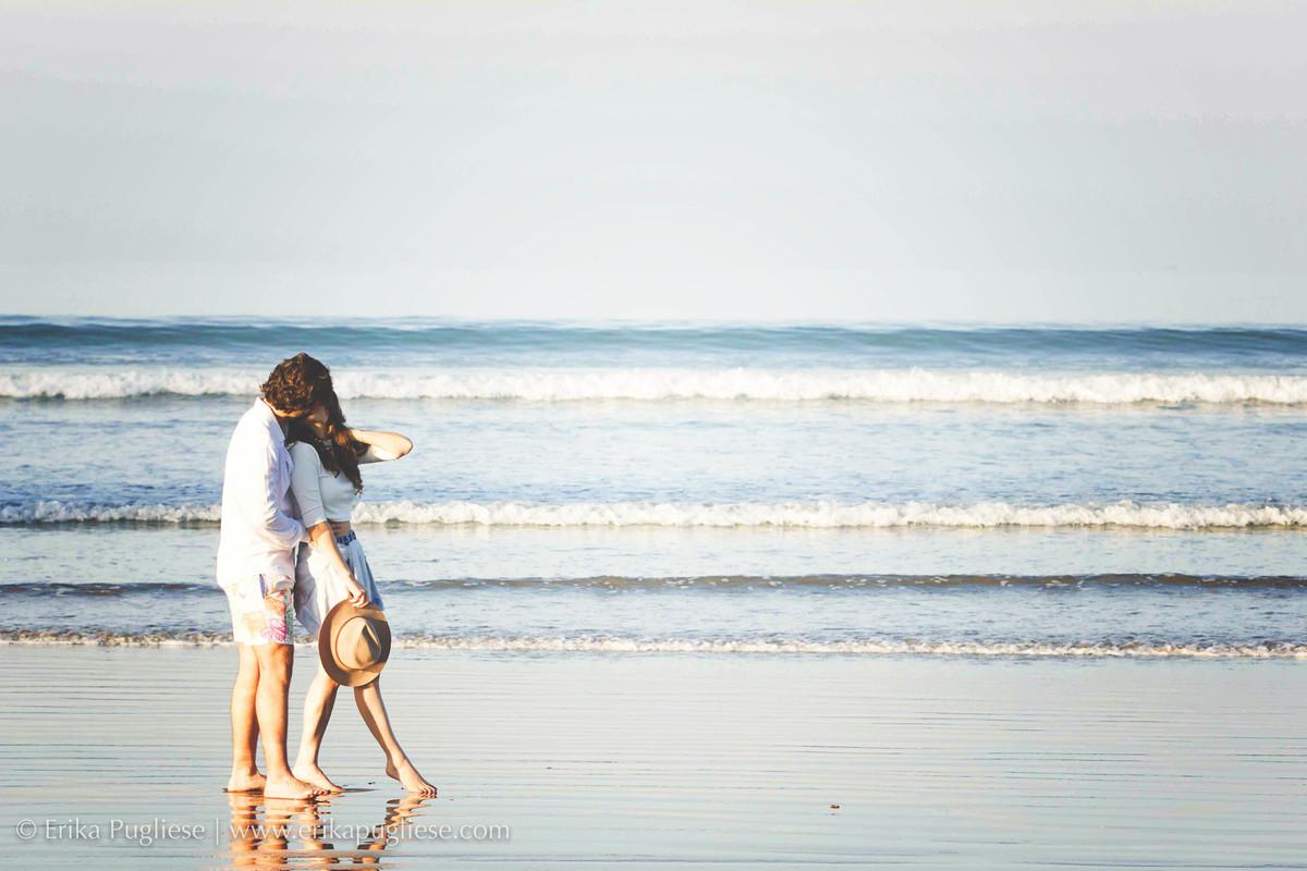 Ensaio de casal na praia grande com Juliana Issa e Fábio