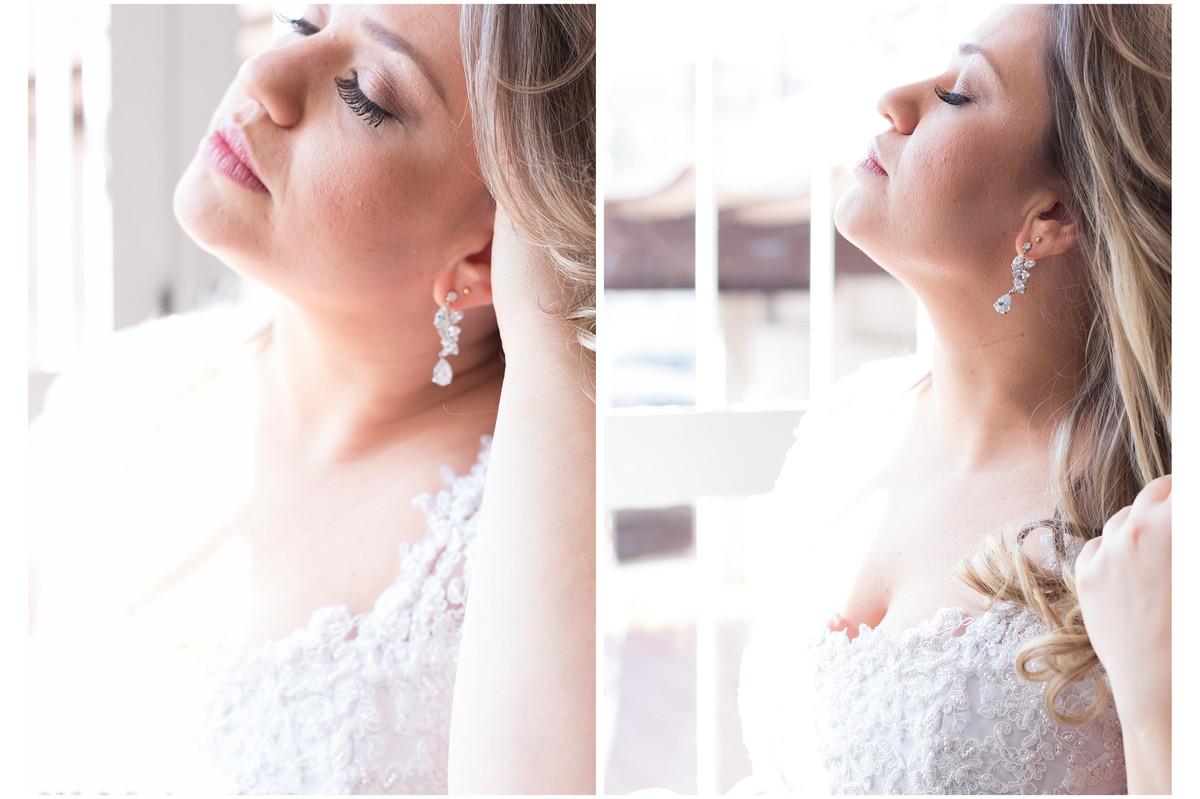 Noiva linda e iluminada