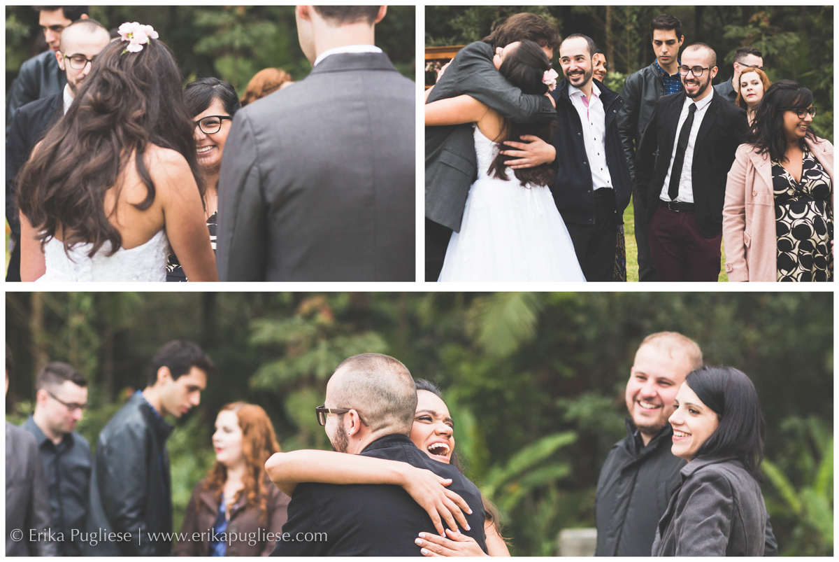 cumprimentos dos amigos da noiva